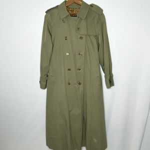 Burberry Vintage Tan Belted Trench Coat